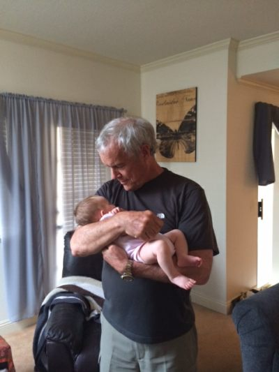 Holding my Grand Daughter